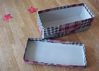 Patchwork Fabric Gift Box pieces