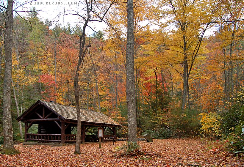 Autumn leaves at Backbone Rock National Recreation Area.