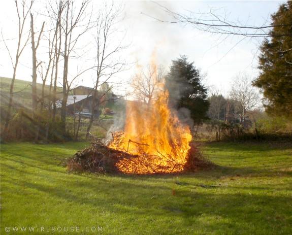 An Old Fashioned Brush Burning