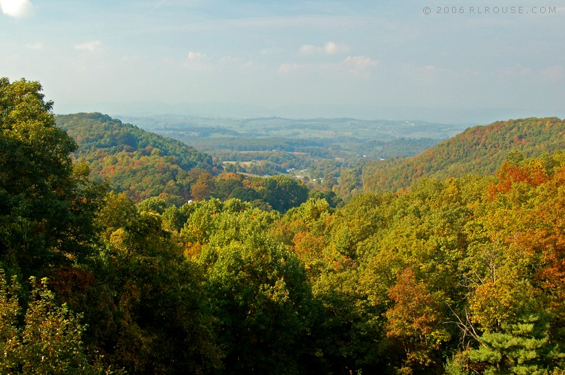 Mountainside view of the Chilhowie, Va area.