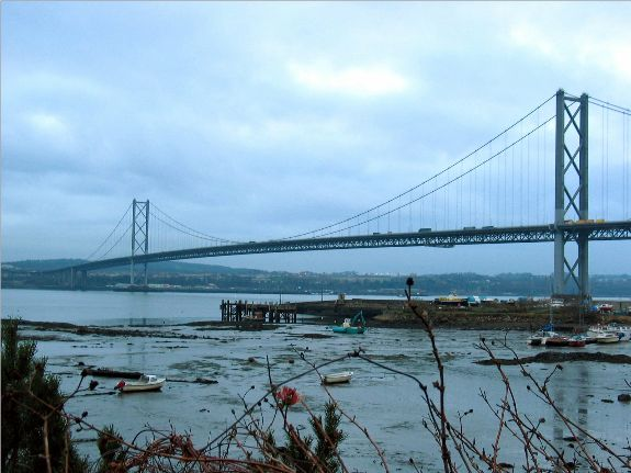 The Firth of Forth Suspension Bridge