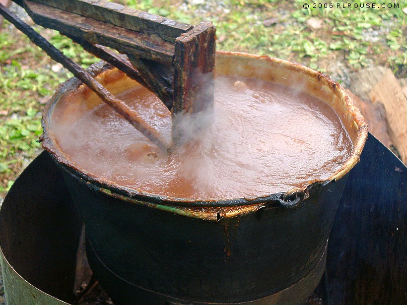 Making apple butter at moms.