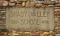 Inscription on the rock school in Shady Valley, TN.