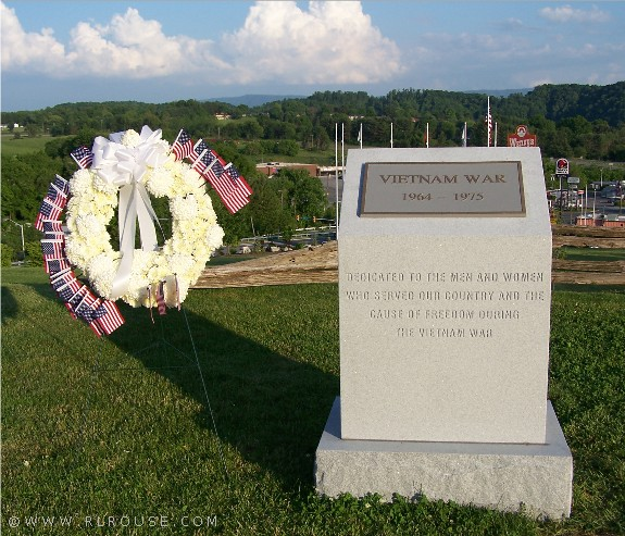 The Vietnam War Memorial in Abingdon, Virginia.